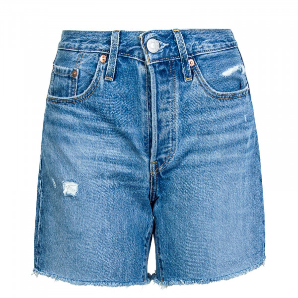 Damen Shorts 501 Mid Thigh Luxor Street Blue