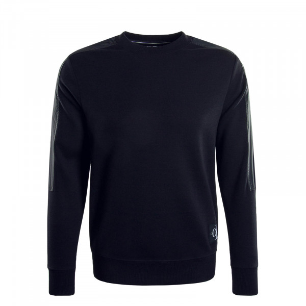 Herren Sweatshirt 4866 Mixed Media Black