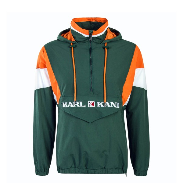 Kani Windbreaker Retro BlockGreenOrange