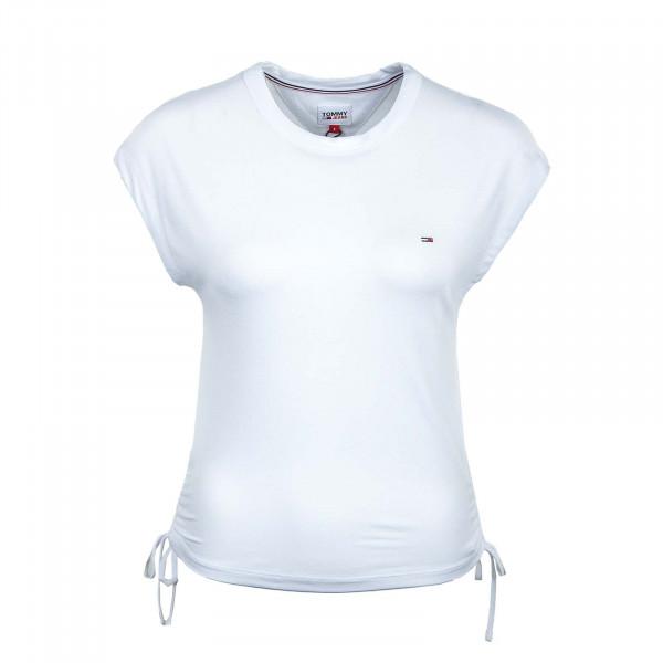 Damen T-Shirt - Regular Side Knot 9776 - White
