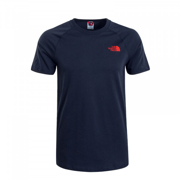 Herren T-Shirt NORTH FACE Navy Red