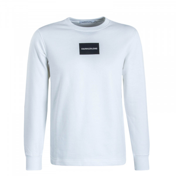 Herren Sweatshirt Small Instit Box White