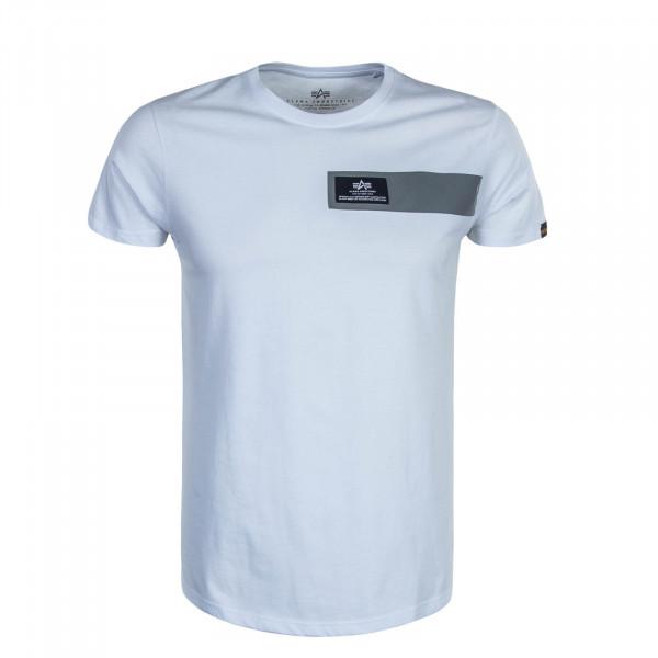Herren T-Shirt Reflective Stripes  White