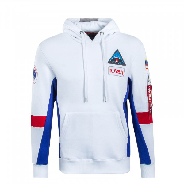 Herren Hoody Space Camp White