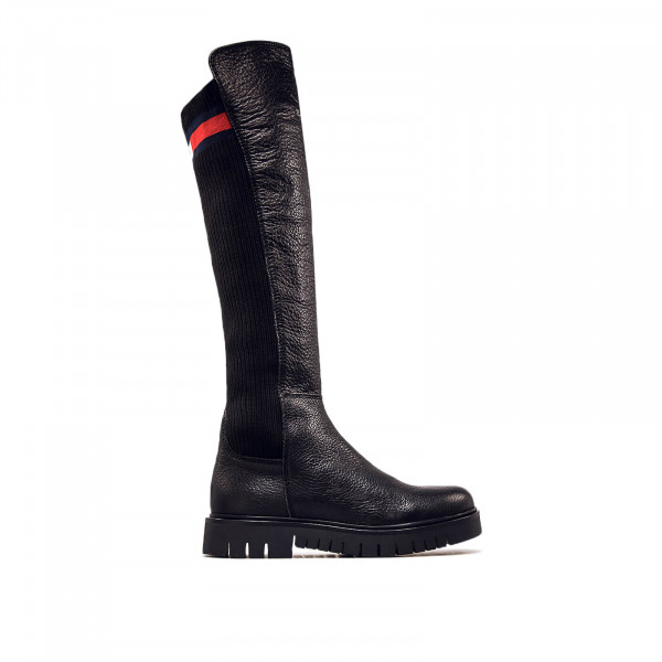 Damen Boot Flag Sock Black