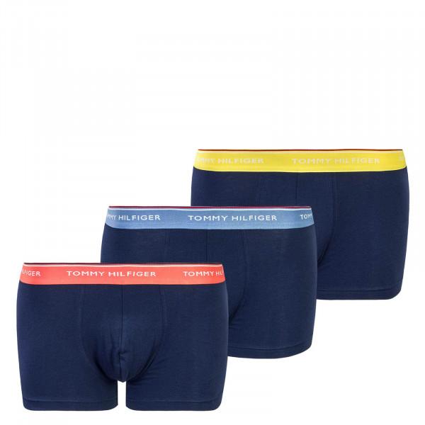 Herren Trunk 3 Pack 3842 Navy Yellow Red