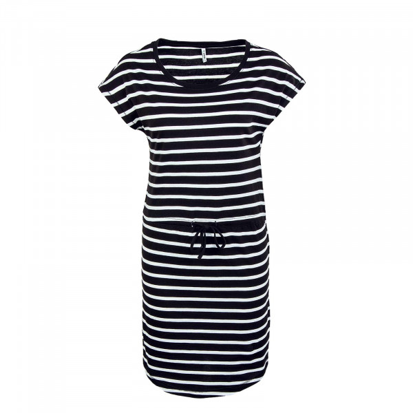 Damen Kleid - May Life - Black / Stripe / White