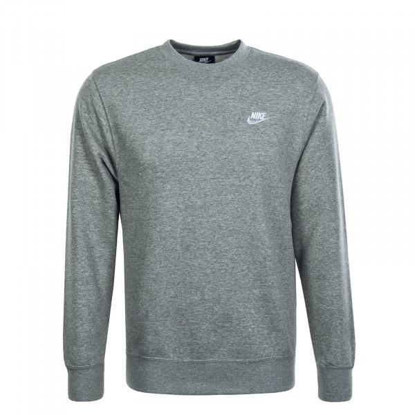 Herren Sweatshirt Club NSW Grey Melange White