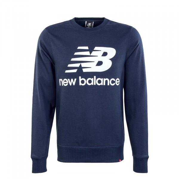 Herren Sweatshirt - Essentials Stacked Logo Crew - Navy