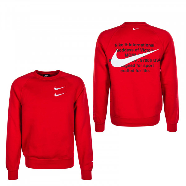 Herren Sweatshirt Swoosh 4865 Red White