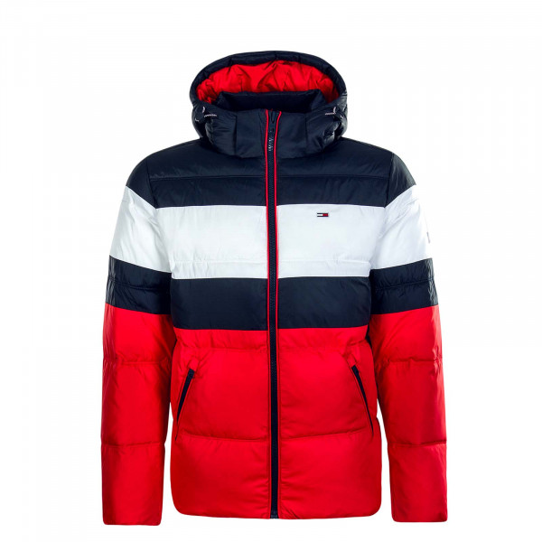 Herren Jacke Rugby Stripe Navy Red White