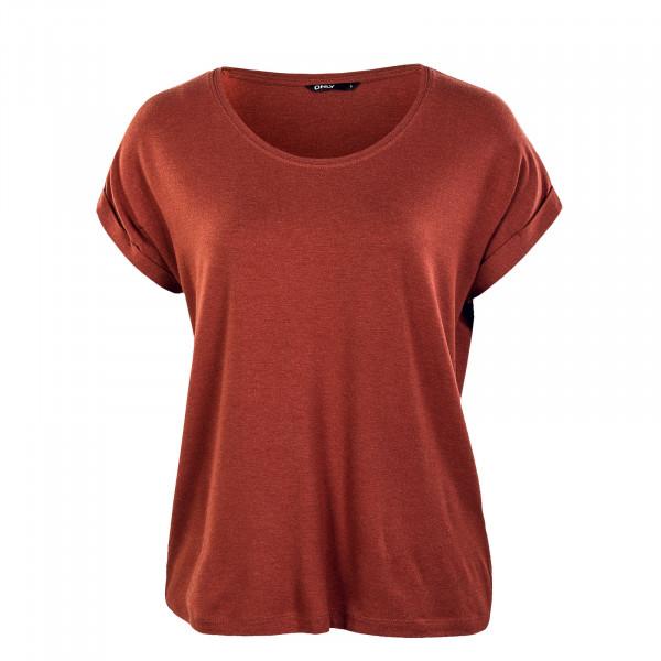Damen T-Shirt - Moster Neck Top - Henna