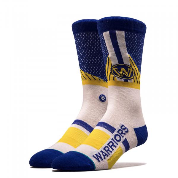 Unisex Socken NBA Warriors Royal White Yellow