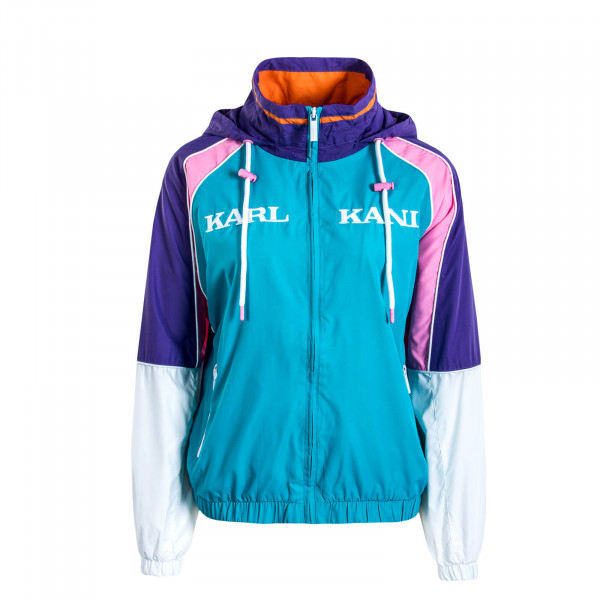 Damen Windbreaker Track Retro Blue Purple Pink