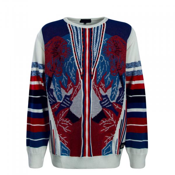 Herren Knit C8601 White Blue Red