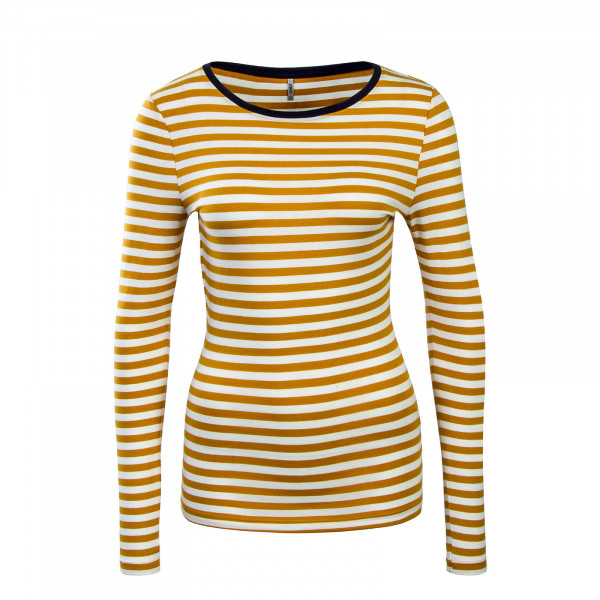 Only LS Fifi Stripe Beige Yellow