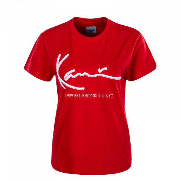 Damen T-Shirt  Signature Red White
