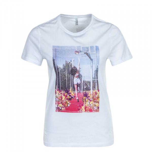 Damen T-Shirt Priya Life Reg Top Box JRS White Basket