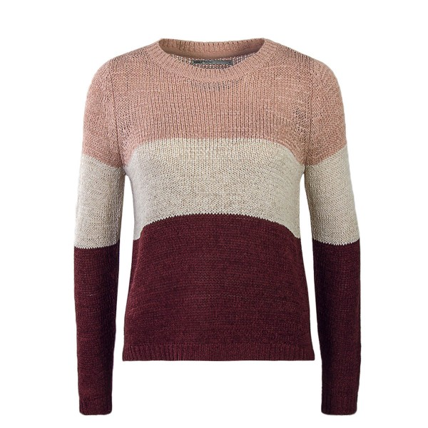 Only Knit Geena Block Rose Beige Wine