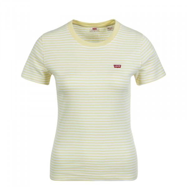 Damen T-Shirt Baby Aya Stripe Yellow White