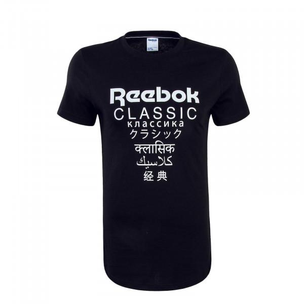 Herren T-Shirt Longer Black