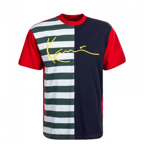 Herren Shirt Signature Block Navy Green Red
