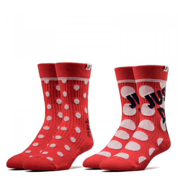 Socken Crew 2 Pack Dots Red White