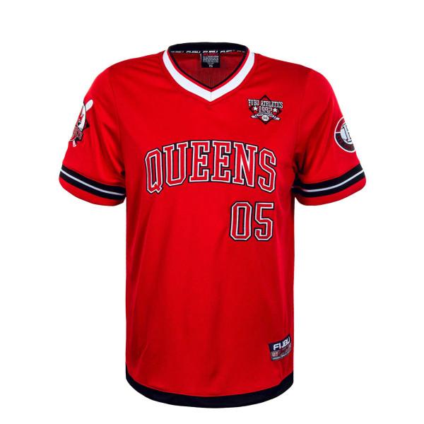 Herren T-Shirt - Athletics Queen Jersey - Red / White / Black