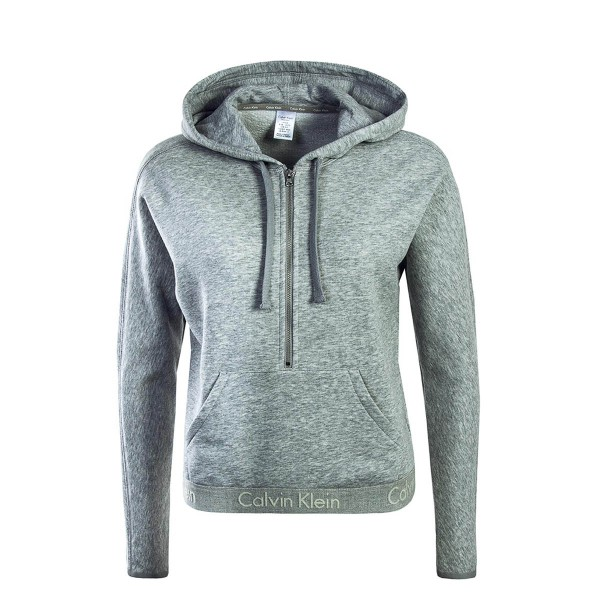 CK Wmn Hoddy Half Zip Grey