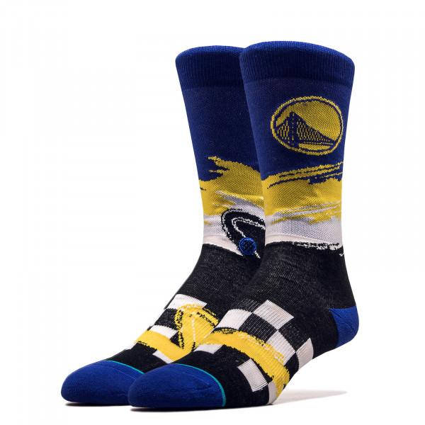 Unisex Socken NBA Warriors Wave Royal Black