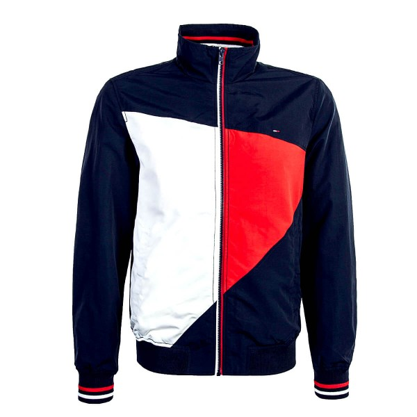 Tommy Jkt Casual Bomber Navy Beige Red