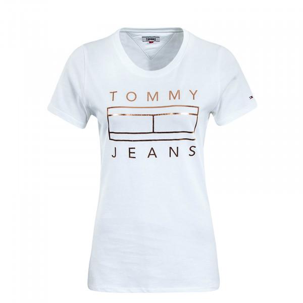Damen T-Shirt  Metallic Logo White