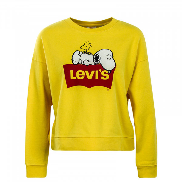 Levis Wmn Sweat Graphic Peanuts Yellow