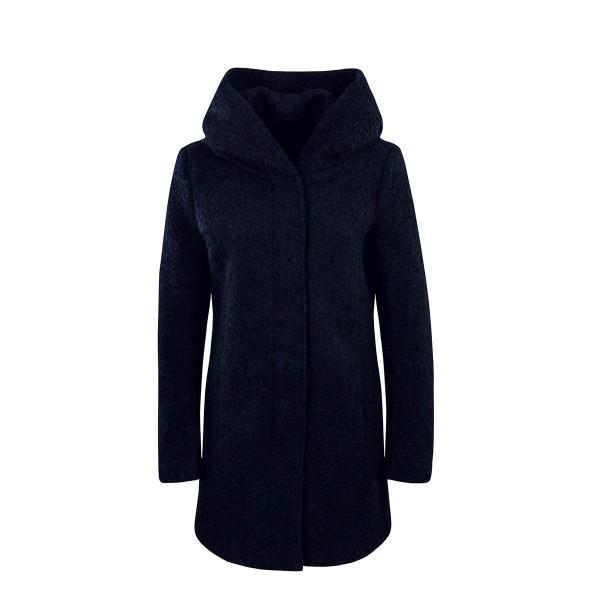Only Mantel Wool Sedona Boucle Navy