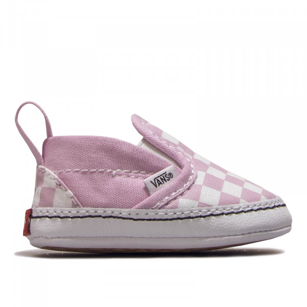 Kinder Sneaker Slip On V Crib Rose White Check