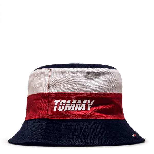 Tommy Bucket Hat Reversible Navy Red Whi