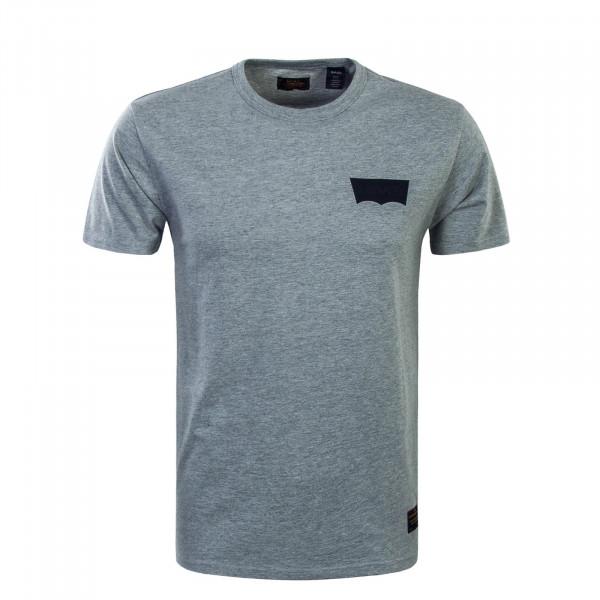 Herren T-Shirt Skate Graphic LSC Heather Grey