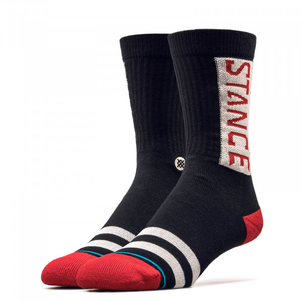 Socken Foundation OG Black Red