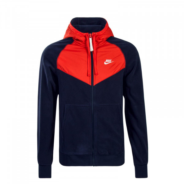 Herren Fleecejacke FZ Core Red Navy