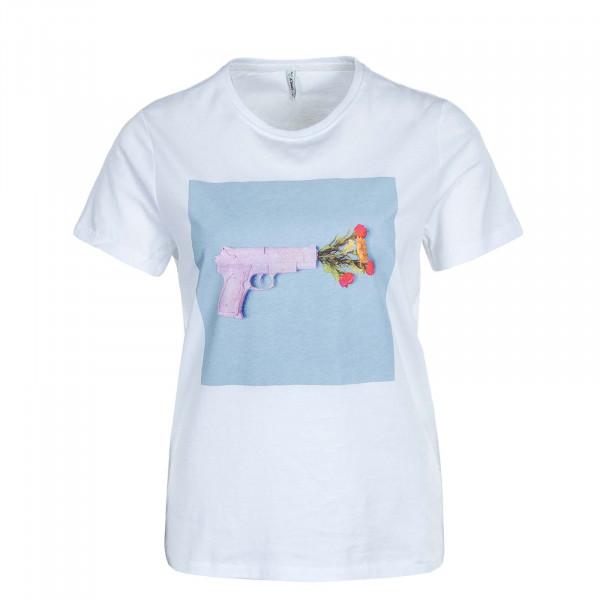 Damen T-Shirt Priya Life Reg Top Box JRS White Gun
