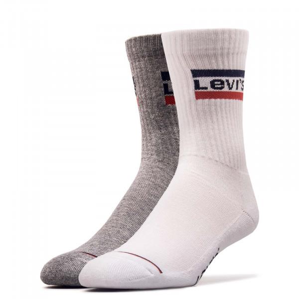 2er-Pack Socken Pairs Regular White Grey