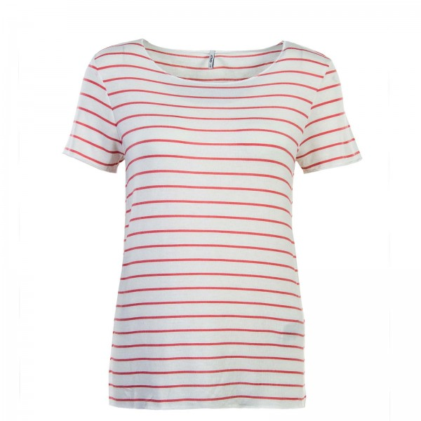 Only TS Viola Stripes White Red