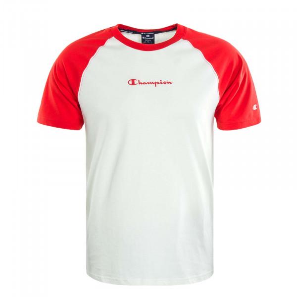 Herren T-Shirt 214763 Off White Red
