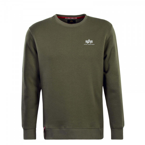 Alpha Sweat Basic Small Logo Olive