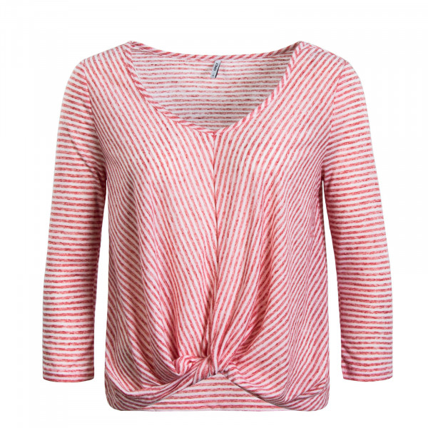 Damen Longsleeve 3/4 Winnie Wrap Stripe Red White