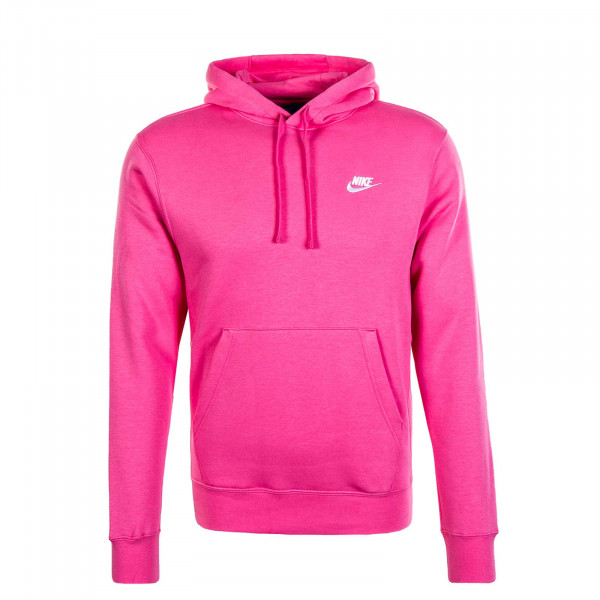 Herren Hoody Club Fleece Pink White