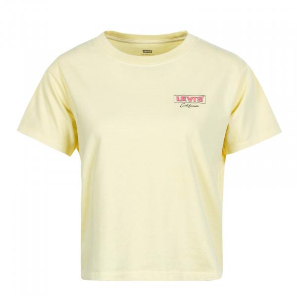 Damen T-Shirt Graphic Varsity Yellow