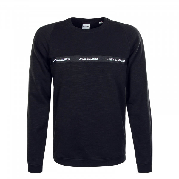 Herren Sweat Train Crew Neck Black Melange