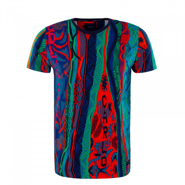 Herren T-Shirt - Blue / Green / Orange