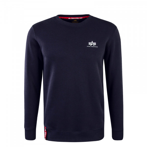 Herren Sweat Basic Sweater Small Navy